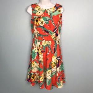 AGB Orange Casual Print Dress